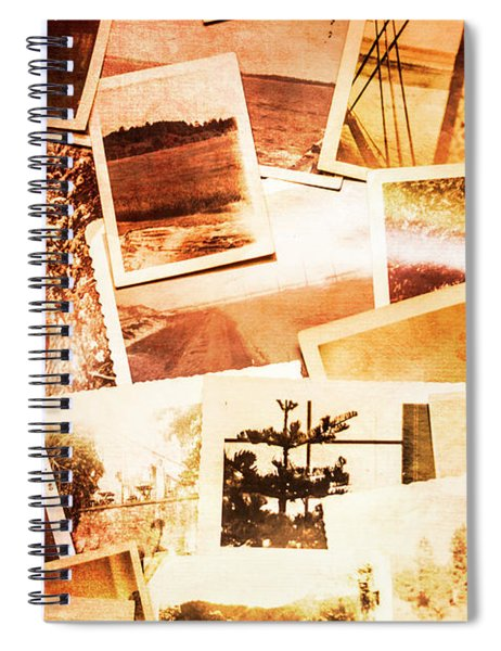 Time Worn Scenes And Places Background Spiral Notebook