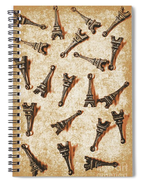 Time Worn Trinkets From Vintage Paris Spiral Notebook