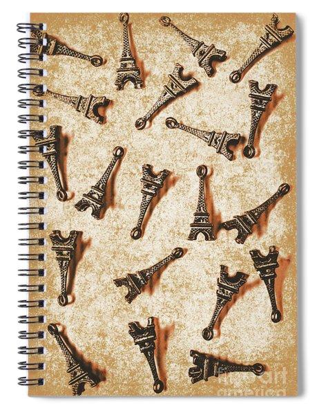 Time Worn Trinkets From Vintage Paris Spiral Notebook