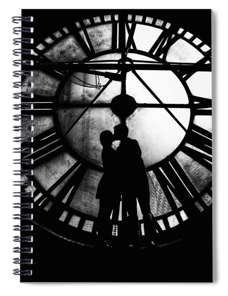 Timeless Love - Black And White Spiral Notebook