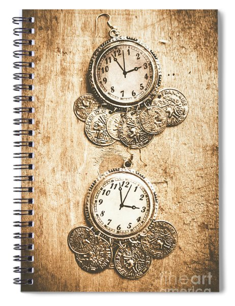 Timepieces From Bygone Fashion Spiral Notebook