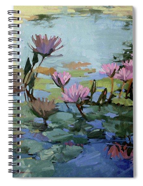 Times Between - Water Lilies Spiral Notebook