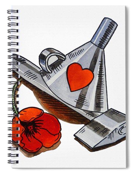 Tin Man Hat The Wizard Of Oz Spiral Notebook