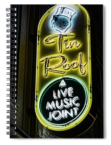 Tin Roof - Gritty Spiral Notebook