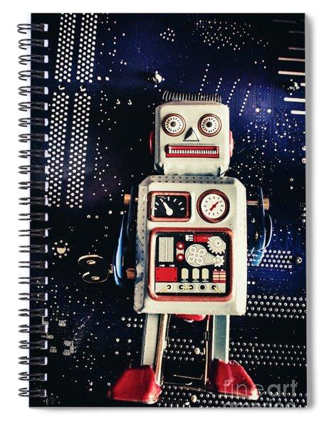 Tin Toy Robots Spiral Notebook