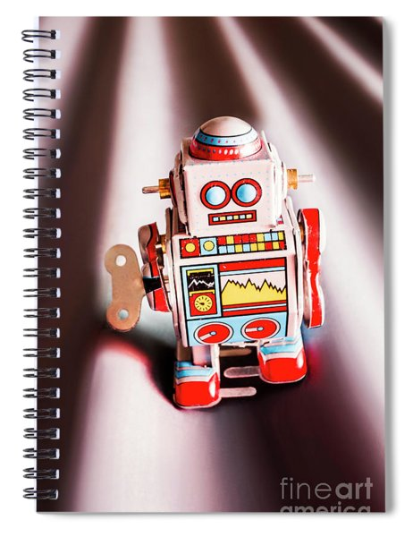 Tin Toys From 1980 Spiral Notebook