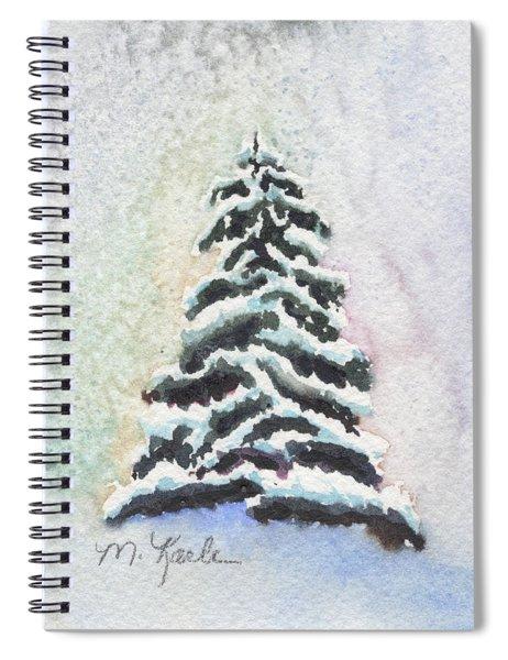 Tiny Snowy Tree Spiral Notebook