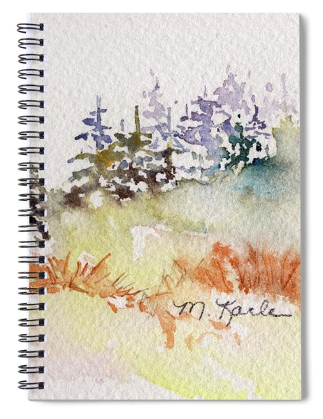 Tiny Winter Treescape Spiral Notebook