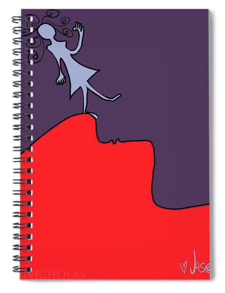 Tiptoe Thru The Two Lips Spiral Notebook