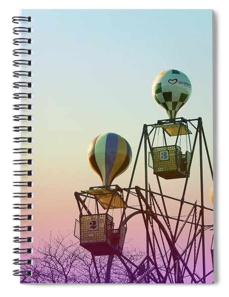 Tivoli Balloon Ride Spiral Notebook