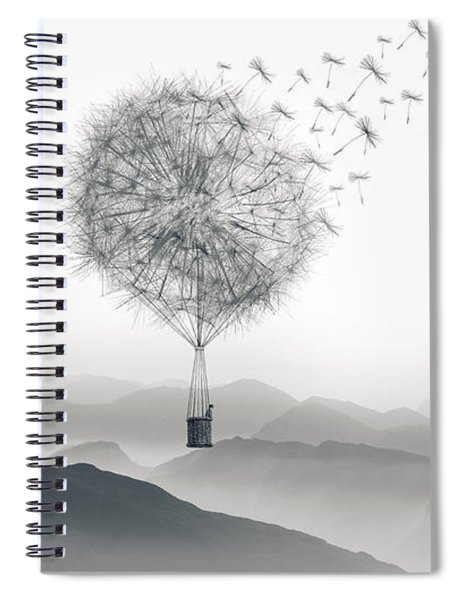 Spiral Notebook featuring the digital art To Fly Only For A Moment by ISAW Company