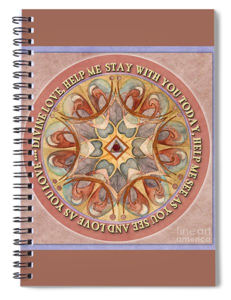 To See As Love Sees Mandala Prayer Spiral Notebook
