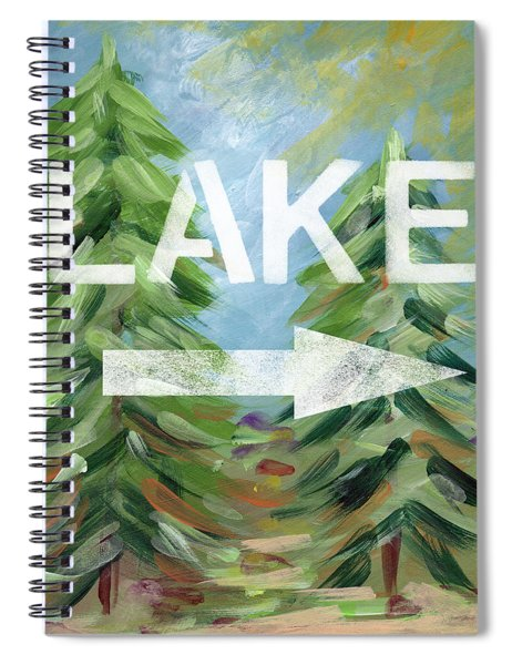 To The Lake - Art By Linda Woods Spiral Notebook