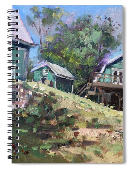 Today Morning At Carter Farms In Norval Spiral Notebook