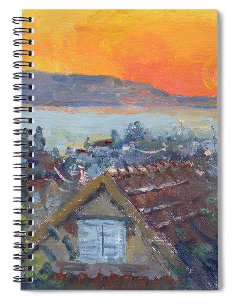 Today Sunrise Over Dilesi Greece Spiral Notebook
