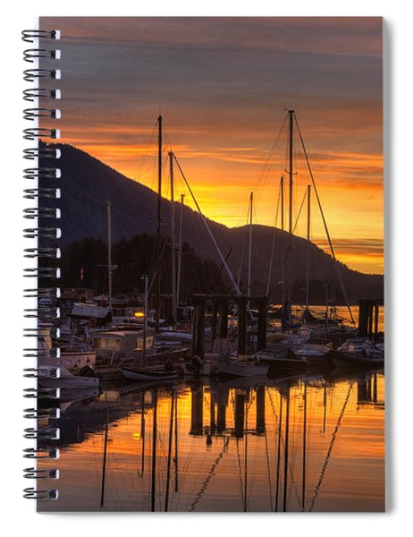 Tofino Docks Sunrise - A Tribute Spiral Notebook