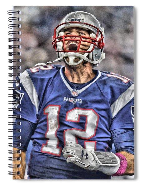 Tom Brady Art 5 Spiral Notebook