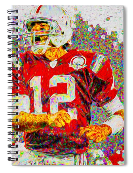 Tom Brady New England Patriots Football Nfl Painting Digitally Spiral Notebook