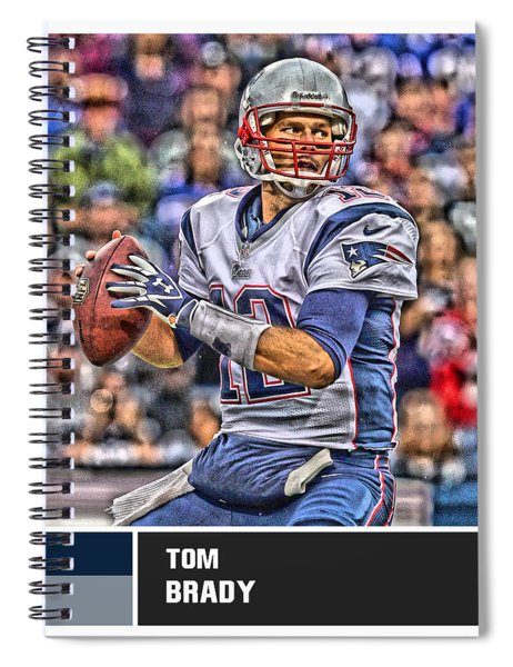 Tom Brady New England Patriots Spiral Notebook