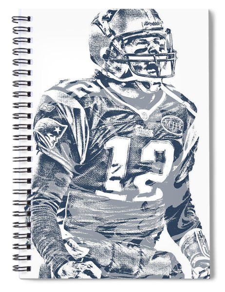 Tom Brady New England Patriots Pixel Art 41 Spiral Notebook