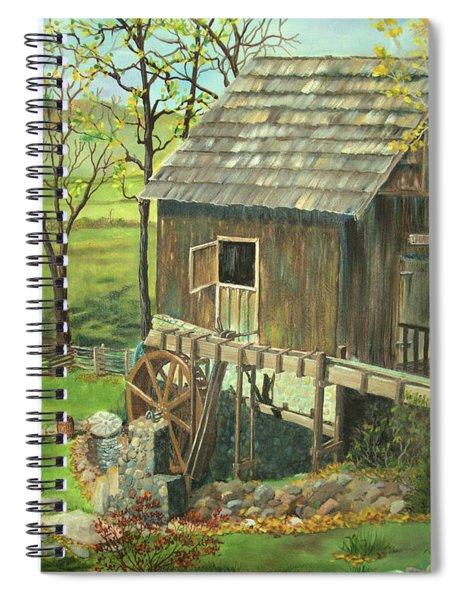 Tom Lott's Mill In Georgia Spiral Notebook