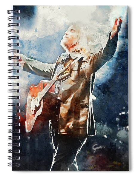 Tom Petty - Watercolor Portrait 13 Spiral Notebook
