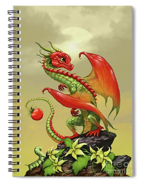 Tomato Dragon Spiral Notebook