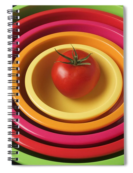 Tomato In Mixing Bowls Spiral Notebook