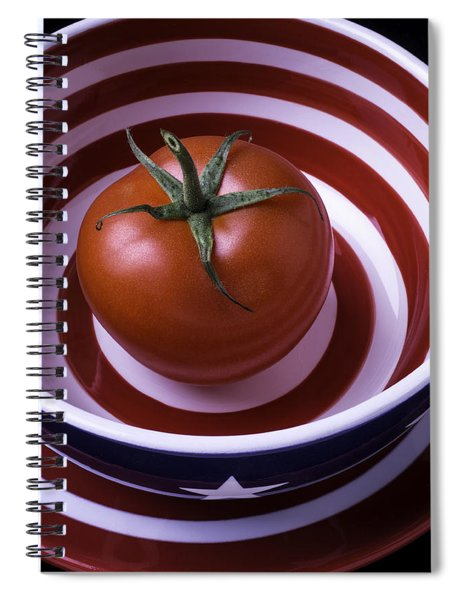 Tomato In Red And White Bowl Spiral Notebook
