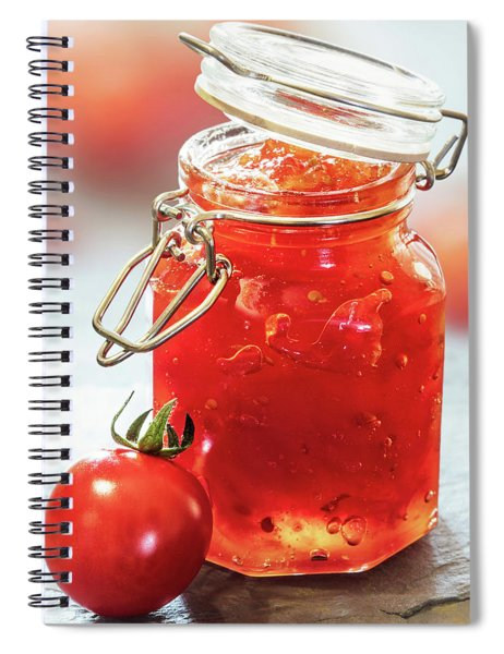 Tomato Jam In Glass Jar Spiral Notebook