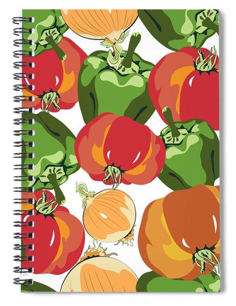 Tomato Sauce Ingredients Spiral Notebook