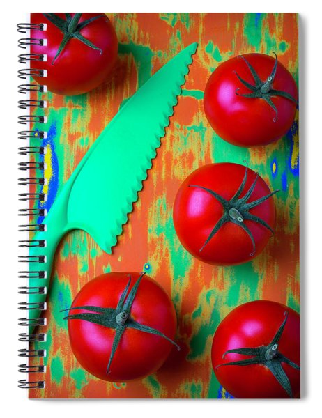 Tomatoes And Green Knife Spiral Notebook