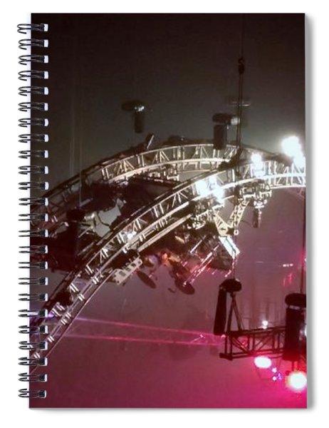 Tommy Lee Motley Crue Farewell Tour Brooklyn N Y 2015 Or Flying Drums Spiral Notebook
