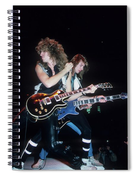 Tommy Thayer And Patrick Young Of Black N Blue Spiral Notebook