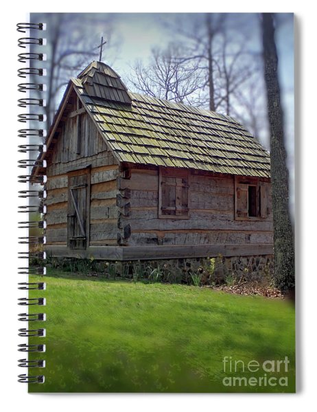 Tom's Country Church And School Spiral Notebook