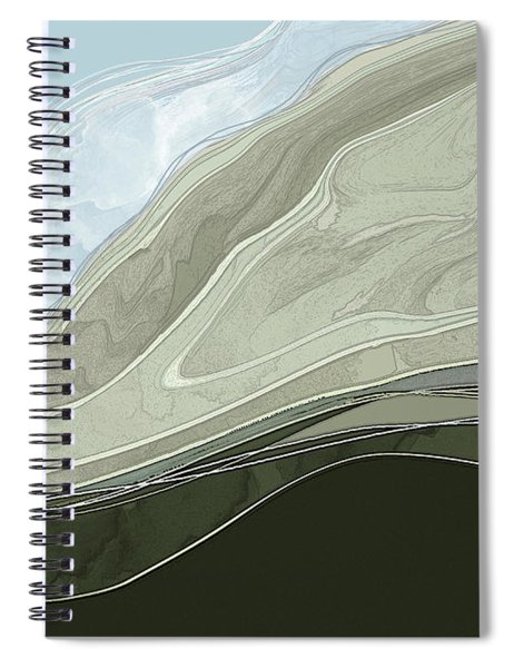 Spiral Notebook featuring the digital art Tone Poem by Gina Harrison