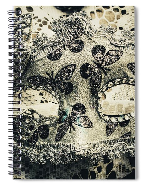 Toned Image Of Beautiful Festive Venetian Mask Spiral Notebook