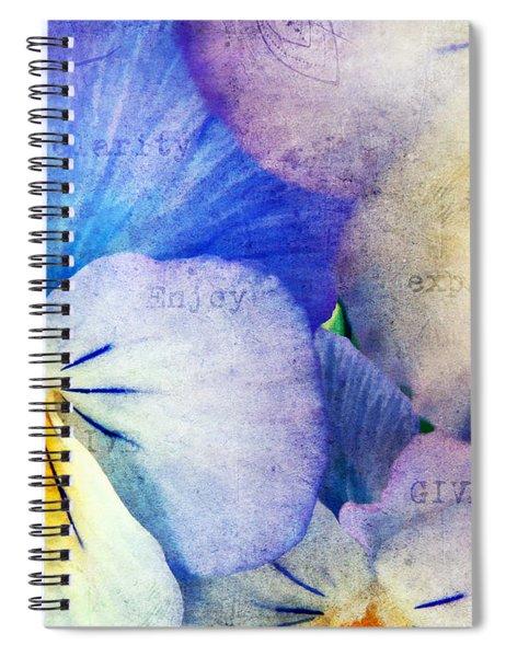 Tones Of Blue Spiral Notebook