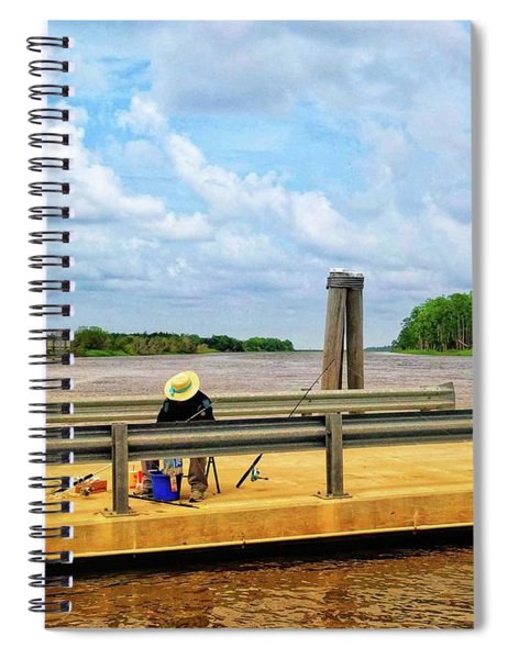 Too Hot To Fish Spiral Notebook