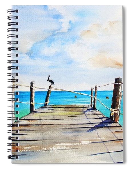 Top Of Old Pier On Playa Paraiso Spiral Notebook