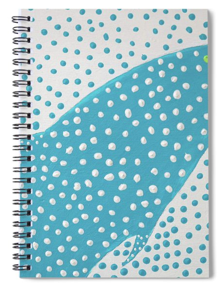 Top Of The Dotted Whale Spiral Notebook