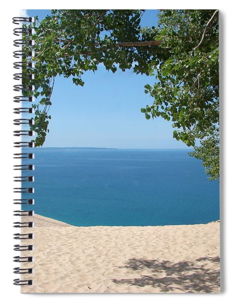 Top Of The Dune At Sleeping Bear Spiral Notebook