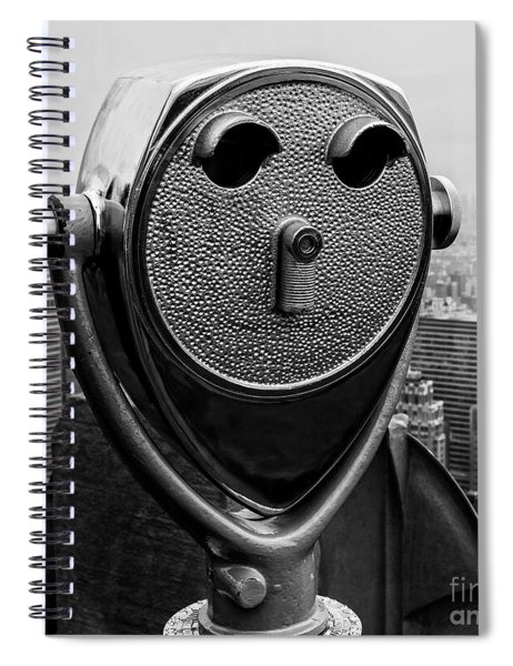 Top Of The Rock Spiral Notebook by Edward Fielding