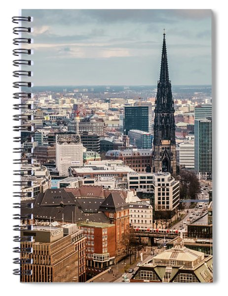 Top View Of Hamburg Spiral Notebook