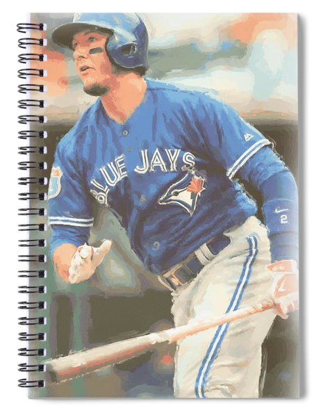 Toronto Blue Jays Troy Tulowitzki Spiral Notebook