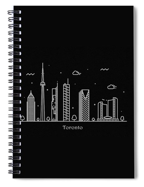 Toronto Skyline Travel Poster Spiral Notebook