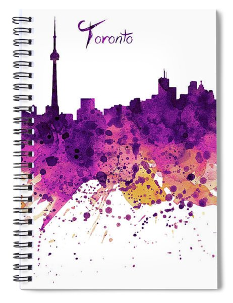Toronto Watercolor Skyline Spiral Notebook
