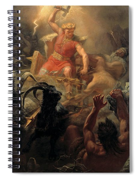 Tor's Fight With The Giants Spiral Notebook