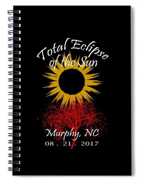 Total Eclipse T-shirt Art Murphy Nc Spiral Notebook