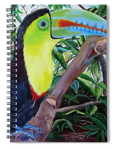 Toucan Portrait Spiral Notebook